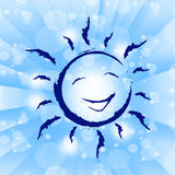 Background Sun Shows Happiness Template And Jubilant Royalty Free Stock Photos
