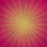 Background with sunburst lines. Pink and yellow background with retro textile in back with sunburst lines effect stock illustration