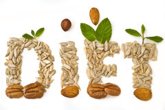 Background  with sunflower seeds Stock Images