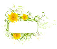 Background with sunflowers Stock Photo