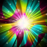 Background Sunrays Shows Radiate Sunlight And Multicoloured. Sunrays Background Indicating Multicolored Radiance And Colours Royalty Free Stock Photography