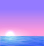 Background with the sunrise sea sun Stock Photo