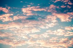 Background sunrise sky. Beautiful colorful morning cloudy sky royalty free stock photography