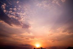 Background of sunset. The background of sunset Stock Image