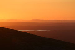 Background-Sunset Cadillac Mtn Royalty Free Stock Photos