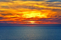 Background of Sunset Sky and Sea beautiful scenery Royalty Free Stock Photo