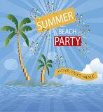 Background Surf  sommer  party island Royalty Free Stock Photo