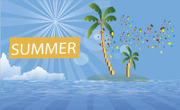Background Surf  sommer  party island Stock Image