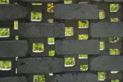 Background surface mosaic from silicate bricks Stock Images