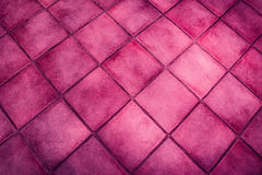 Background surface of pink tiles Royalty Free Stock Photography
