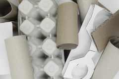 Background surface of various shapes and types cardboard.  royalty free stock photography