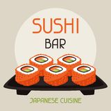 Background with sushi royalty free illustration