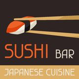 Background with sushi vector illustration
