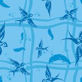 Background with swallows Stock Photos