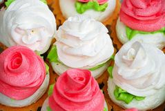 Background from sweet cakes Royalty Free Stock Images
