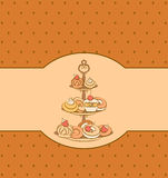 background with sweet cakes. Royalty Free Stock Photos