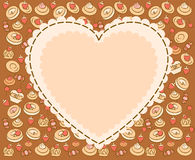 Background with sweet cakes. Stock Photos