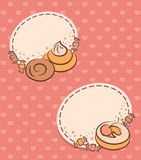 Background with sweet cakes Royalty Free Stock Image