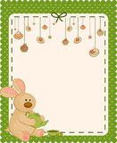 Background with sweet cakes and rabbit Stock Image