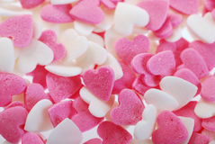 Background of sweet hearts Stock Photo
