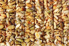 Nuts and honey bar Stock Images