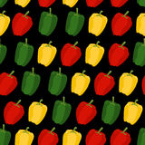 Background of sweet pepper. Vector seamless pattern of vegetable Royalty Free Stock Photography