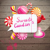 Background with sweets and candies Royalty Free Stock Photography