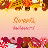 Background with sweets. Royalty Free Stock Images