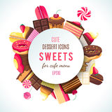Background for sweets company logo Stock Images