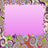 Background swirl colors puzzle frame Royalty Free Stock Images