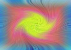 Background swirl swirling colours rainbow vertigo dream. Concept photo of rainbow colours swirling in a vortex vertigo pattern ideal for own text etc stock illustration