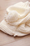 Background of swirling light knitted thing Stock Images