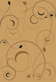 Background with swirls. Of brown scale Stock Photo