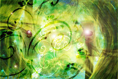 Background with swirls. Abstract Green background with swirls stock illustration