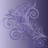 Background  with swirls Stock Image