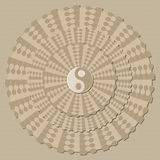 Background with a symbol of yin-yang, visual decep Royalty Free Stock Images