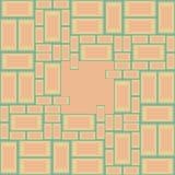 Background of symbolic masonry. Vector seamless background of symbolic masonry yellow and red Stock Photo