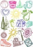 Background symbols Stock Image