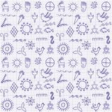 A background with symbols. Royalty Free Stock Images