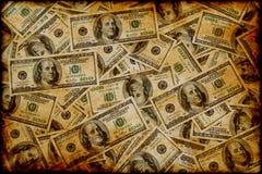 Background with symbols of dollar royalty free stock photo