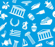 Background with symbols of Greece Royalty Free Stock Image
