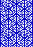 Background symmetrical pattern of circles and hexagons. Stock Photos