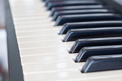 Background of synthesizer keyboard Stock Photos