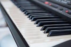 Background of synthesizer keyboard Stock Photography