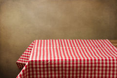 Background with table and tablecloth Royalty Free Stock Images