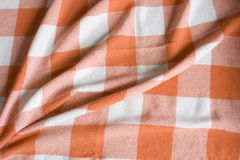 Background Tablecloth square. A tablecloth ready for the food Stock Photo