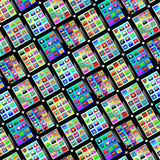 Background from tablets. Background of many sets of tablets for designers for various necessities Stock Photo