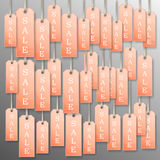 Background of tags sale . Royalty Free Stock Photo
