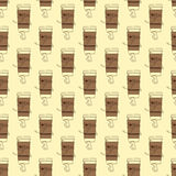 Background with take away coffee cup Royalty Free Stock Images