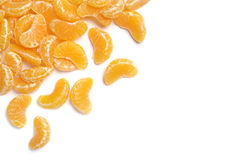 Background with tangerine Stock Photography